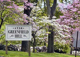 Greenfield Hilll in Fairfield, CT along Bloomin' Metric Route